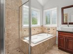 Take a shower or relax in the tub.