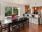 The open concept living floor is bright throughout the day