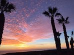 Beautiful sun rise on Lanzarote