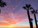 Beautiful sun rise on Lanzarote.