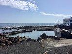Punta Mujeres rock pool. Perfect for taking a dip.