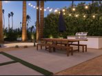 Outdoor BBQ with dining for 12+