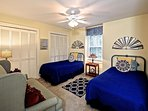Third upstairs bedroom has twin beds, great for little ones or grownups