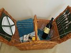 A picnic basket is available for your use. Fill with yummy goodies & enjoy sundowners on the beach!