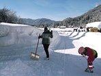 Auch das ist Wintersport - 2 m Schnee im Hochwinter 2015