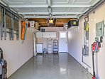 This garage doubles as a laundry room and parking for 1 vehicle!