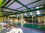 Undercover heated pool for cooler months