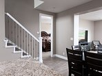 Dining, stairs, Master Bedroom