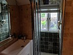 The ensuite bathroom and shower.