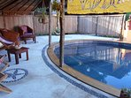 Coin terrasse piscine