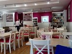 Beatons tea rooms - modern, clean and cosy.