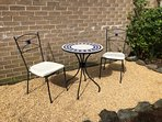sunny seating area