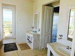 Main bathroom, double vanities