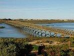 Bridge over the Ria Formosa to Quinta do Lago beach