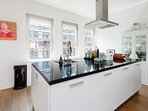 Enjoy the fully equipped kitchen island