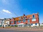Seaspray, first floor apartment on the seafront as Seaton, Devon on the Jurassic Coast.