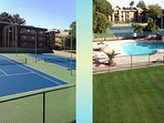 Tennis courts and 4 pools