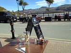 out door dining in Barmouth harbour with views over the estuary