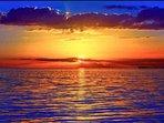 Glorious Sunset over the Atlantic Ocean!