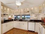You can whale watch (Nov-Apr) from the newly remodeled, fully equipped kitchen!