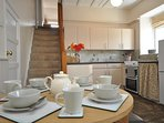 Create a simple supper in this well-equipped kitchen