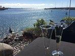 Enjoy a lovely dinner at the Arrecife marina.