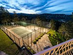 Private Tennis court, Basketball and Volleyball court.  Playround with jungle gym climber