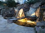Outdoor waterfall/pond