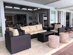Covered verandah seating