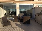 Outside terrace area with additional relaxing furniture