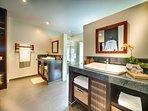 Bedroom 3: En Suite, dual sinks, rain shower and built-in closets.