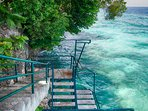Just below our villa you have access to the marine sanctuary, literally just below these steps!