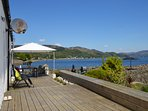 Decking with stunning sea views