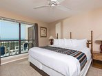 King-size bed in the master bedroom
