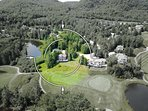 Aerial view of our property on the left