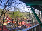 The views of downtown Helen are awesome from our decks.