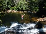 My brother in law just slid down this natural water slide on opne of our adventures in the area.