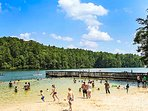 Unicoi State Park and beach great for swimming in the summer.