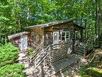 This cabin is ideally located near hiking trails, biking trails, lakes and more!