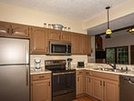 New stainless steel appliances and well-equipped kitchen to help prepare your favorite meals