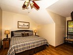 On the 3rd Level you will find the nice size King Master Suite with Flat Screen TV