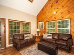 Comfortable seating and sleeper sofa for additional 2-guests.