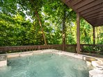 Enjoy relaxing in the hot tub after a long day of hiking or shopping.