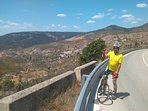 We are on a national cycling route with amazing views and places to enjoy tapas on route