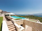 The Villa offers stunning views of the sea and the surrounding area!