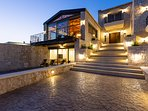 The exterior and main entrance of the Villa!