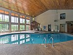 Swim in the indoor heated pool at this Pigeon Forge vacation rental condo.