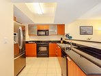 Fully equipped kitchen for all your cooking needs. Pots, pans, utensils, etc are all included.