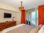 Master bedroom - king bed - ocean views - walk in closet.