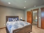 Each bedroom is outfitted with a sumptuous queen bed.